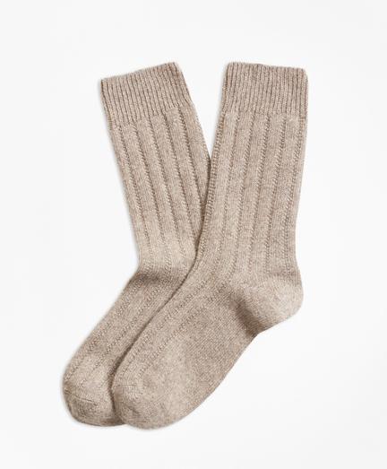 Rib-Knit Cashmere-Blend Socks