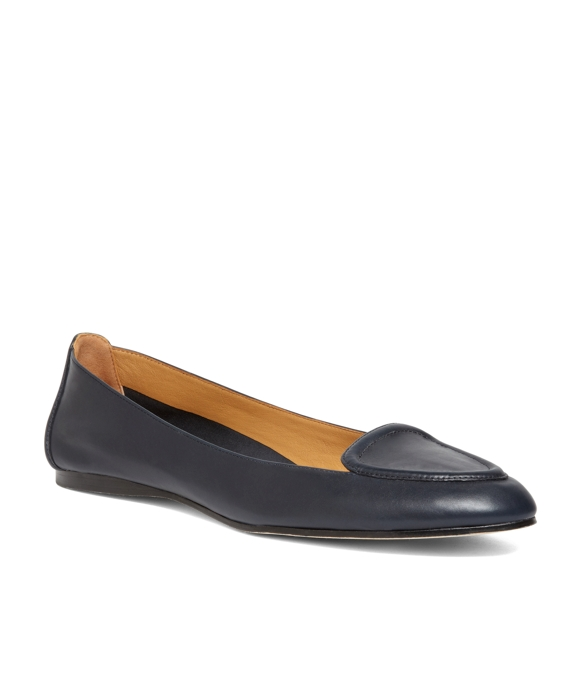 Calfskin Ballet Loafer Navy