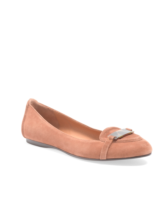 Kid Suede Ballet Loafer Light Brown