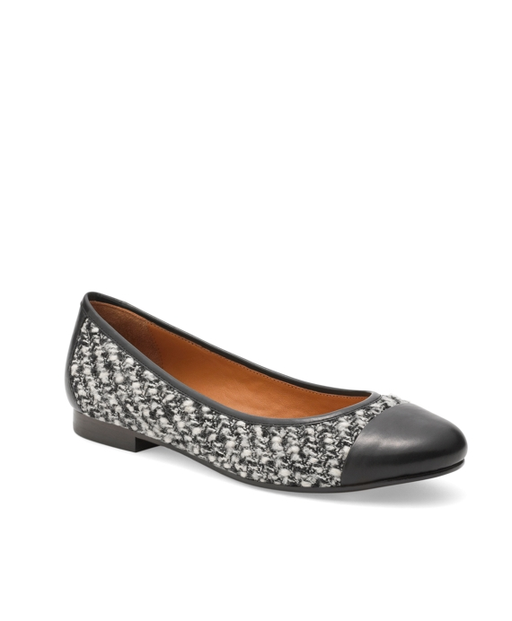 Captoe Boucle Ballet Flats Black-White