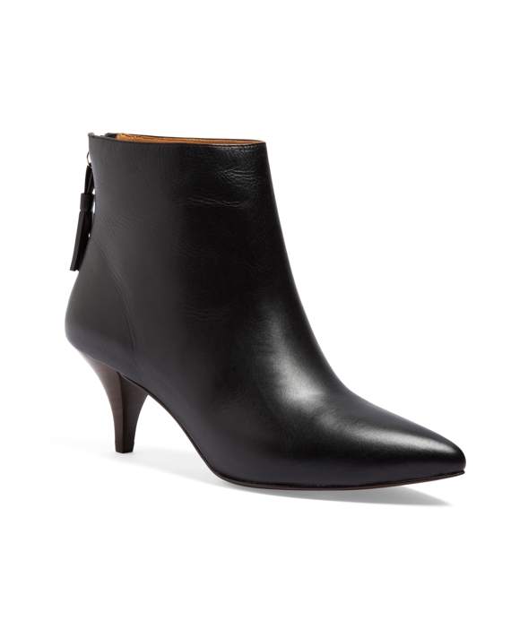Calfskin Kitten Heel Booties - Brooks Brothers