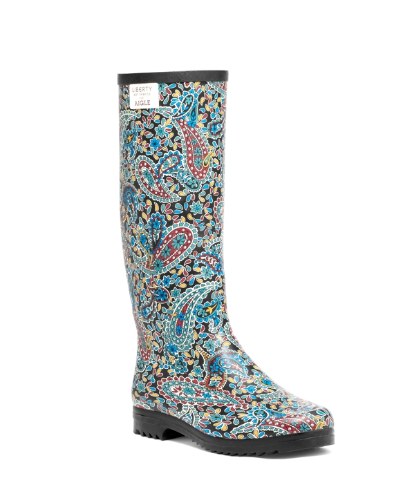 Women's Aigle Paisley Printed Rain Boots | Brooks Brothers