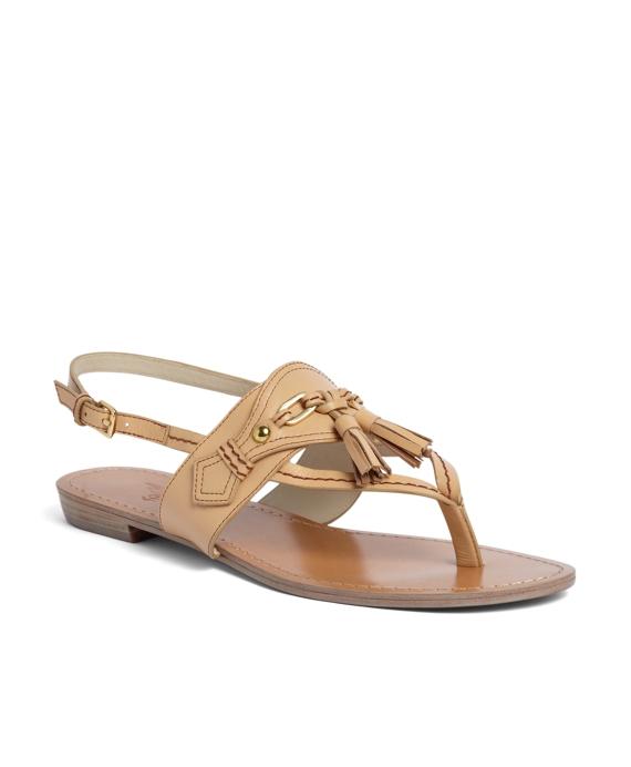 Spectator Calfskin Sandal Tan
