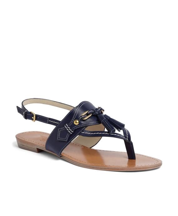 Spectator Calfskin Sandal Navy