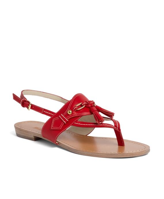 Spectator Calfskin Sandal Red