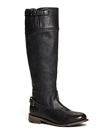 Vintage Shoe Company Calfskin Flat Tall Boots