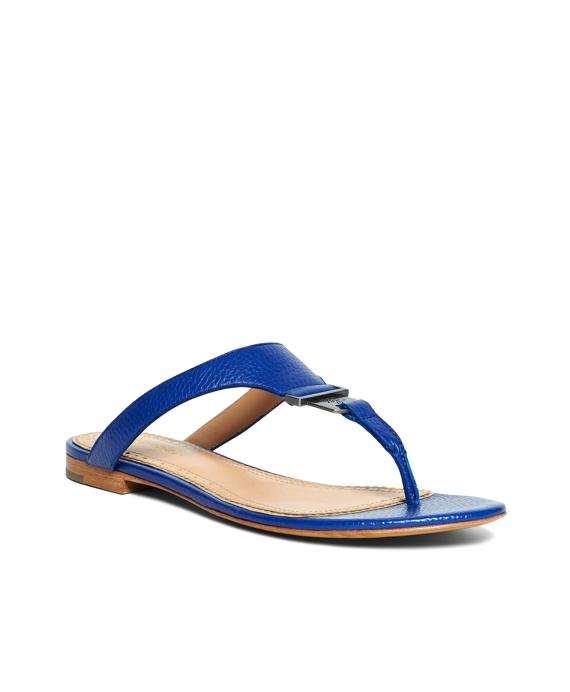 Tumbled Calfskin Thong Sandals Blue