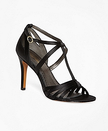 Satin High-Heeled Sandals