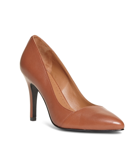Leather Pumps Cognac
