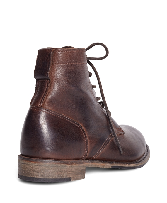 Women's Vintage Shoe Company Short Dark Brown Leather Lace-Up ...