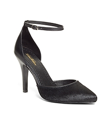 Haircalf Pumps with Ankle Strap