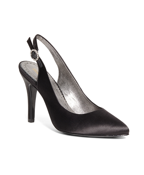 Satin Slingbacks Black