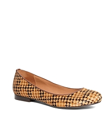 Haircalf Houndstooth Flats