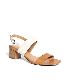 Low Stacked Sandals
