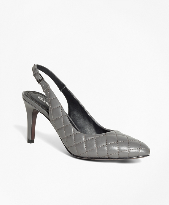 Quilted Leather Slingbacks