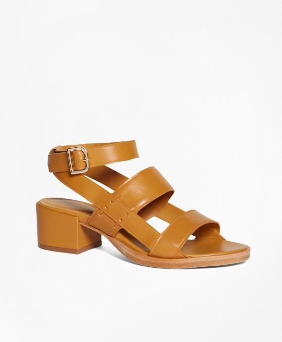Low Ankle-Strap Sandal Tan