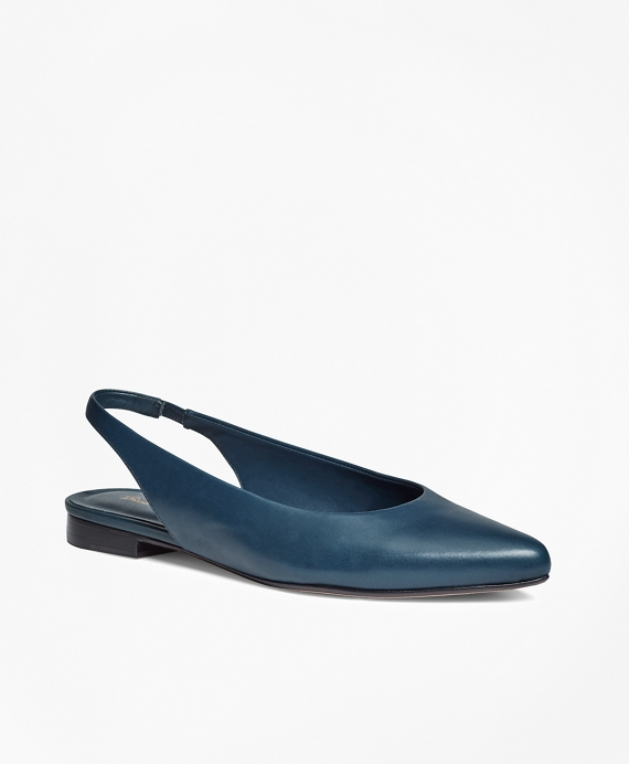 Leather Sling-Back Flats