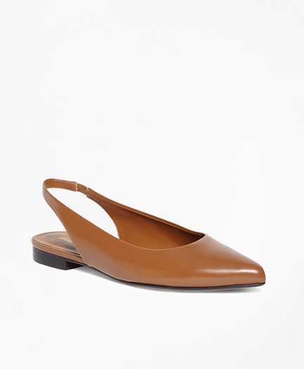 Patent Leather Sling-Back Flats