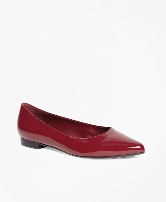 Patent Leather Flats Red