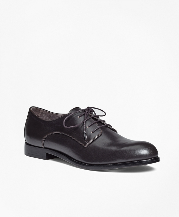 Leather Lace-Up Oxfords