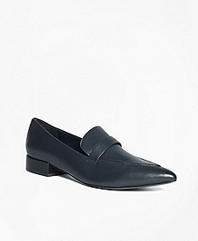 Leather Pointed-Toe Dress Shoes