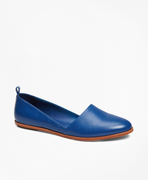 Leather Flats Blue