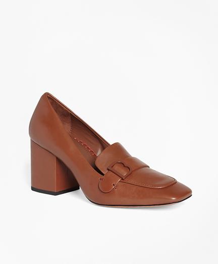 Leather Loafer Pumps