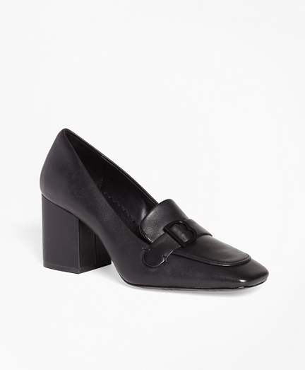 Leather Loafer Pumps