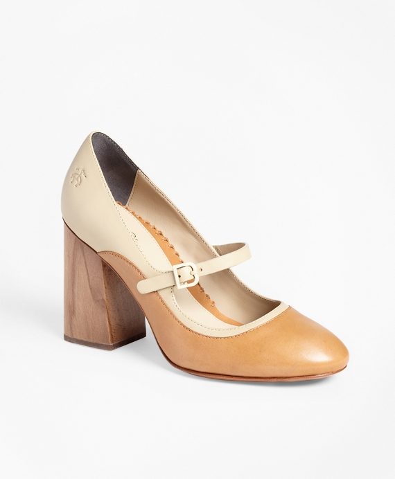 Leather Mary Jane Spectator Pumps