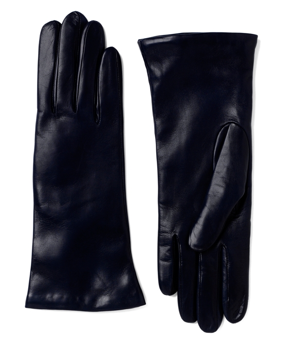 Cashmere-Lined Lambskin Gloves Navy