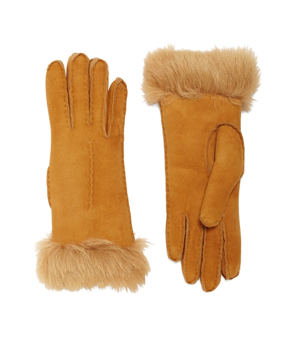 Shearling Gloves Light Brown