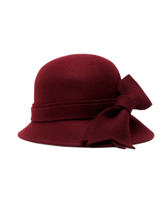 Heathered Bow Cloche Burgundy