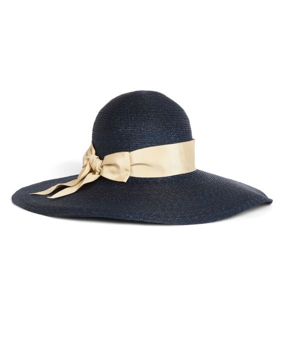 Milan Straw Portrait Hat Navy