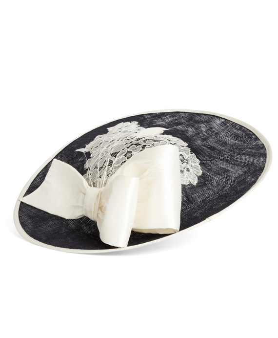 Lace Disc Headpiece Navy-White