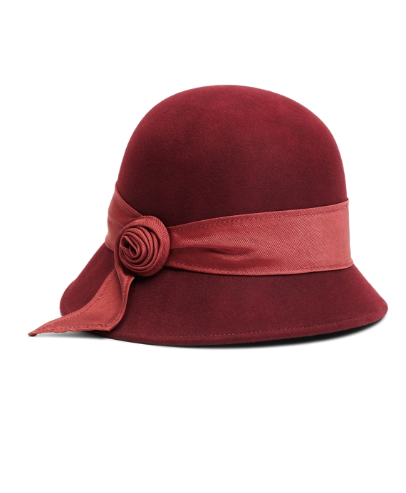 Twisted Knot Wool Cloche Wine