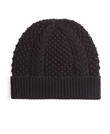 Cashmere and Wool Cable Knit Hat