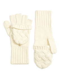 Wool Cable Knit Gloves