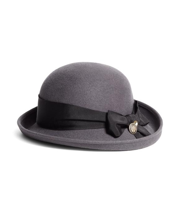 Bow Cloche Hat Grey