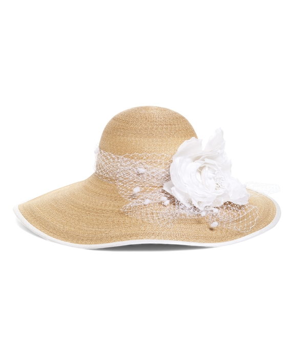 Derby Scene Straw Hat Natural-White
