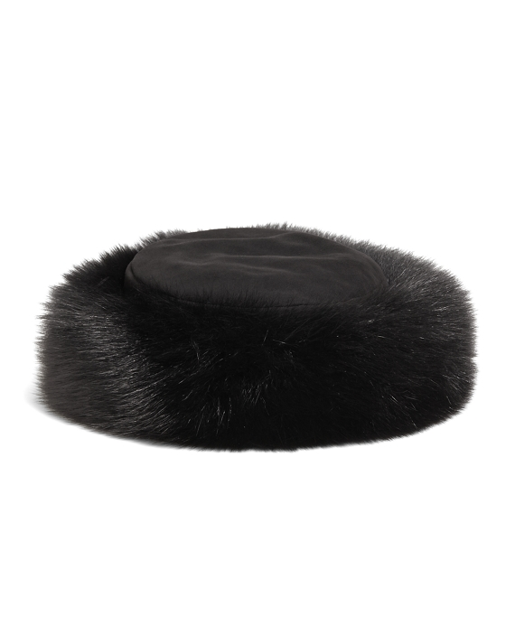 Fox Fur Hat Black