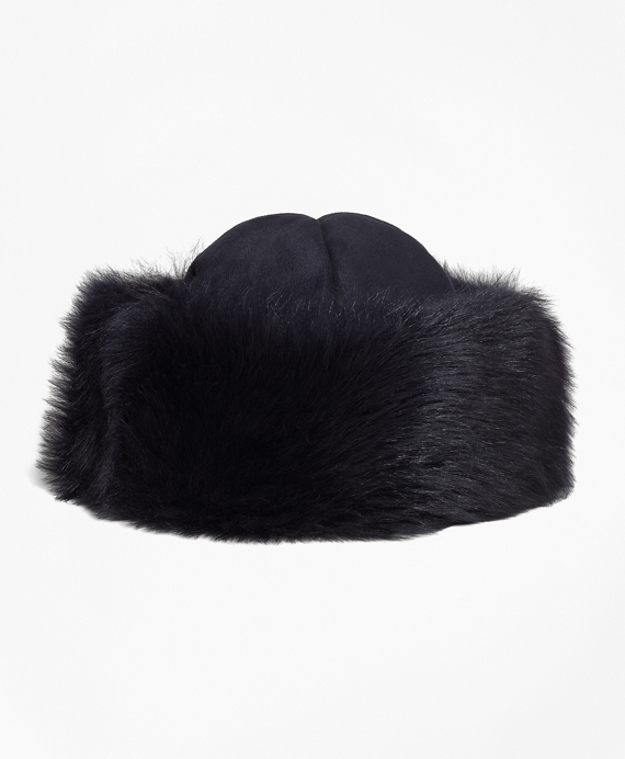 Shearling Hat Navy