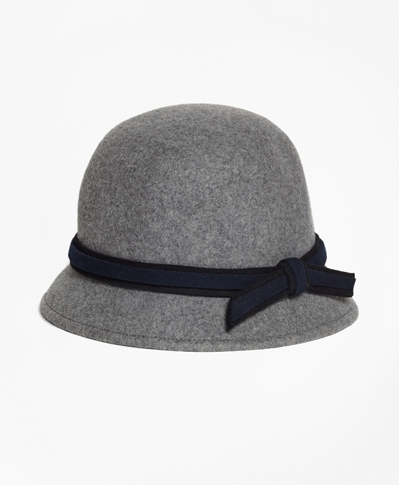 Bucket Cloche Hat Grey