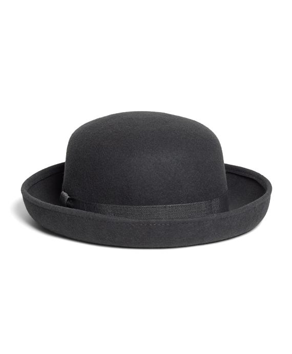 Wool Bowler Hat Grey