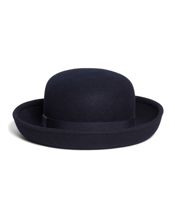 Wool Bowler Hat Navy