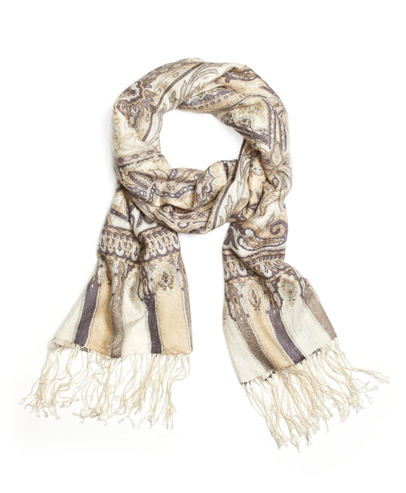 Cashmere and Silk Paisley Oblong