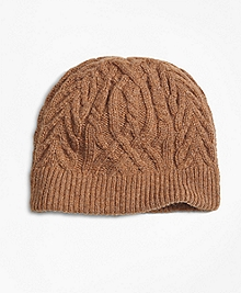 Camelhair Cable Knit Hat
