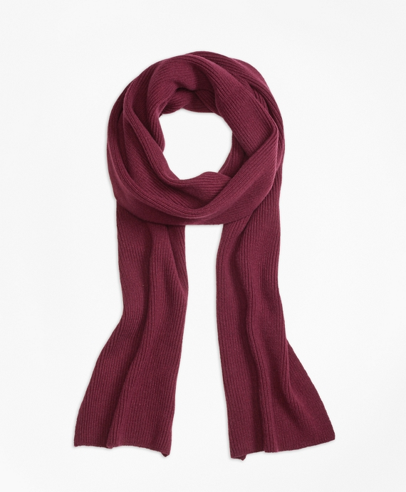 Extra-Long Cashmere Scarf Burgundy
