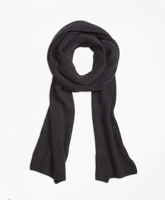 Extra-Long Cashmere Scarf Charcoal