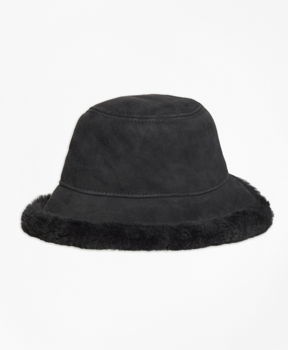 Shearling Bucket Hat Black