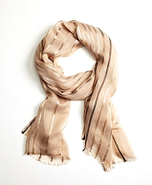 Stripe Silk-Blend Oblong Scarf